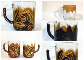 Point of painting on glass mug