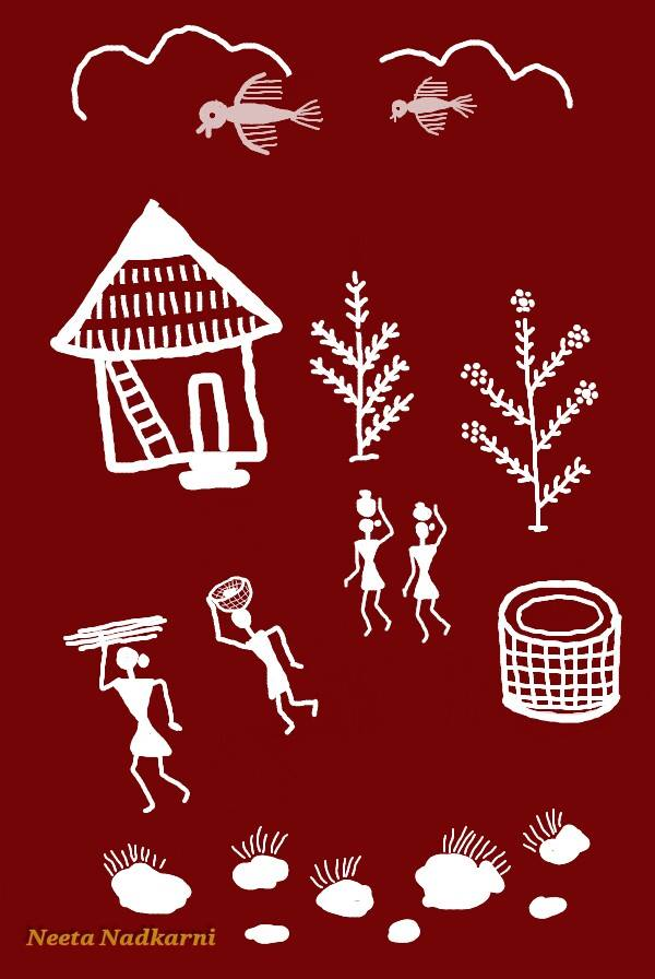 Easy Warli Paintings Simple Craft Ideas