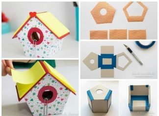 Birdhouse for clips and sticky notes