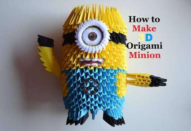 3 D origami minion