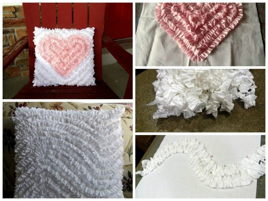 Ruffles, frills as an element of decoration