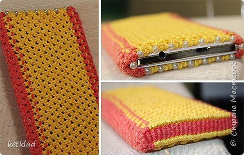 Yellow pink case for smartphone