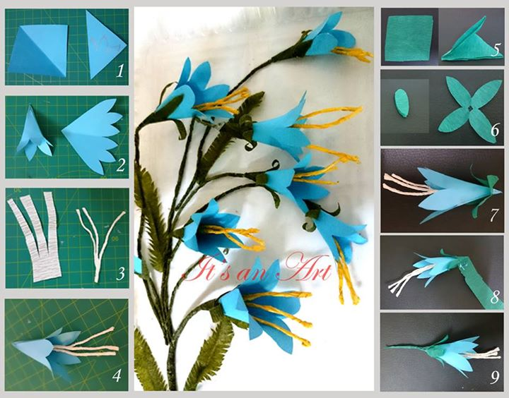 Blue Bell Flower Simple Craft Ideas