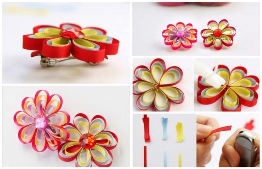 How to make a ribbon hairpins