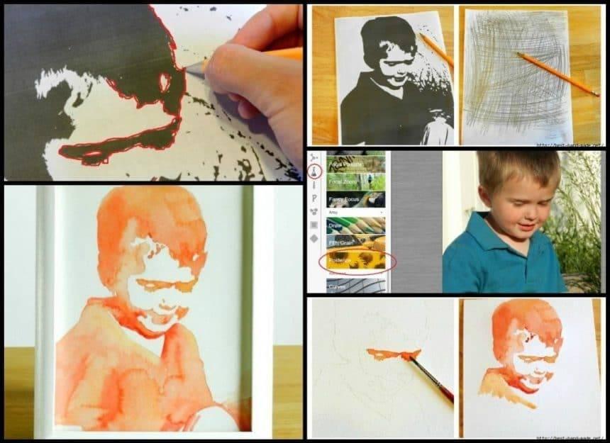 "Watercolor portrait for ""not artists"""
