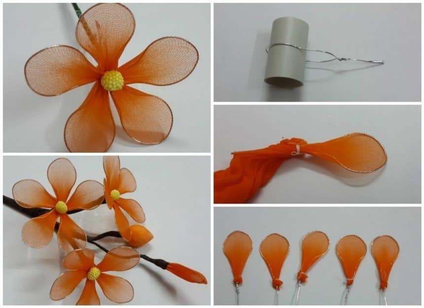 How to make simple nylon flowers