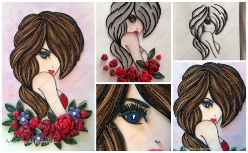 Quilling girl
