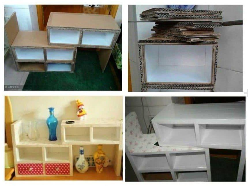 Shelves from cardboard