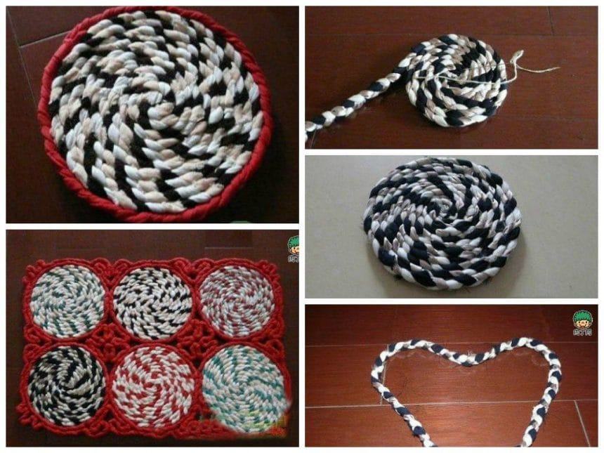 An easy way to weave rugs from fabric