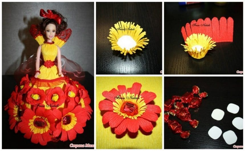 Flower candy doll