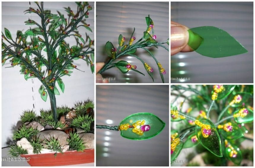 Blooming plastic tree
