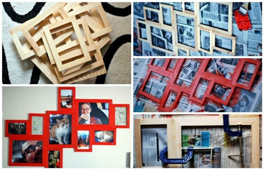 How to make a collage of conventional frames