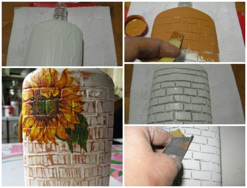 Bricks vase