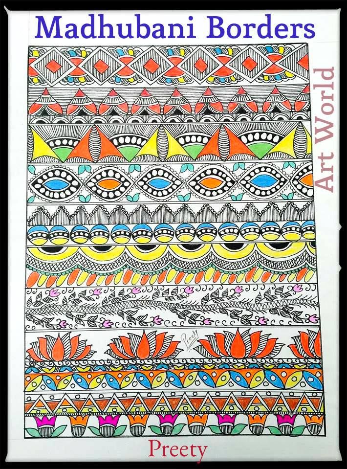 How To Draw Madhubani Design Simple Craft Ideas
