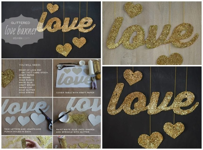 Love shiny lettering for valentine's day