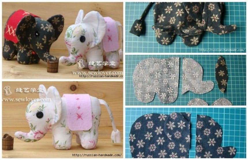 How to sew textile elephants