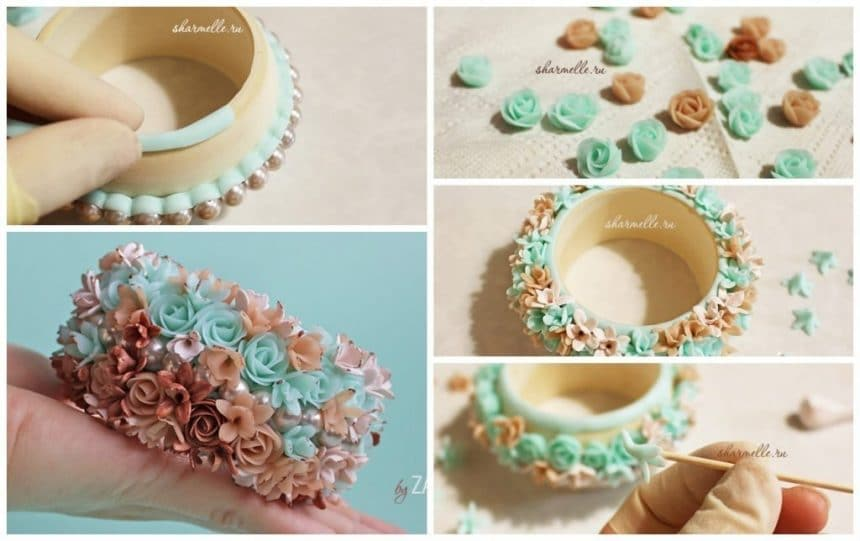Sculpt flower bracelet