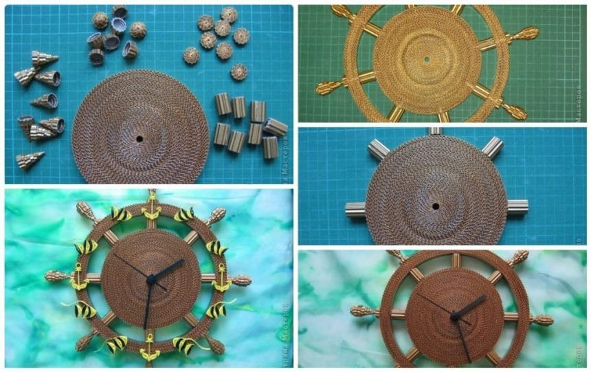 How to make quilling clock
