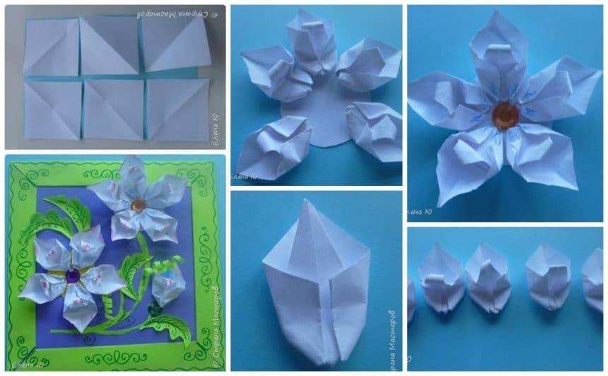 Fantasy origami flowers