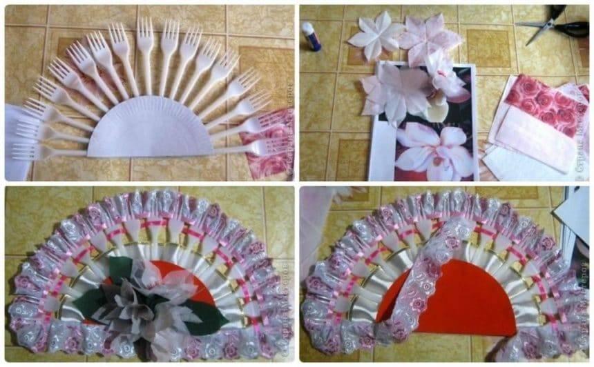 Make a flower fan