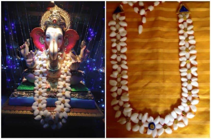 Vastra Kanthi For Ganpati Simple Craft Ideas