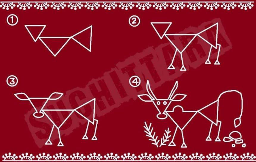 Warli Art Basic Tutorial Simple Craft Ideas