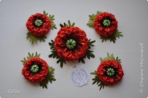 Simple craft idea how to make poppy flower from ribbon mightylinksfo