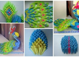 How to make origami peacock