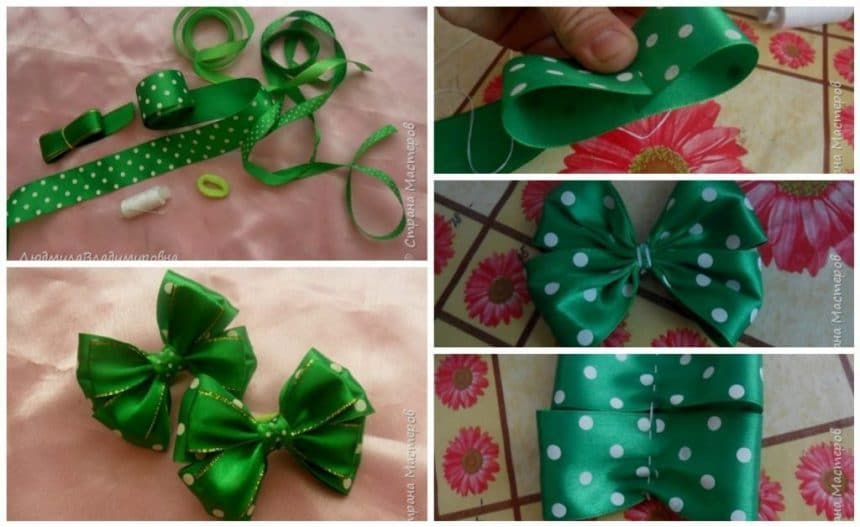 How to make bow from ribbon