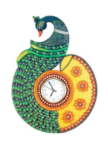 Procedure Of Making Peacock Wall Clock Simple Craft Ideas
