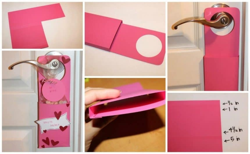 Make a valentine door hanger