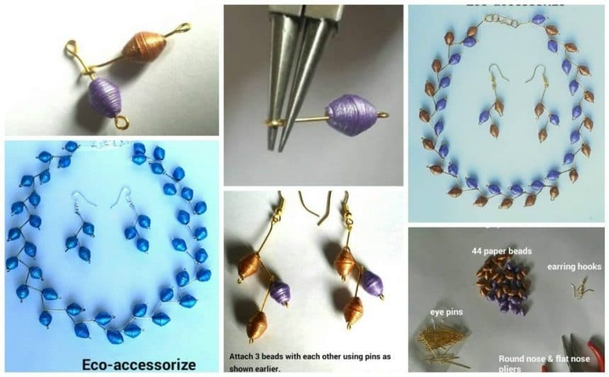 How to make quilling necklace