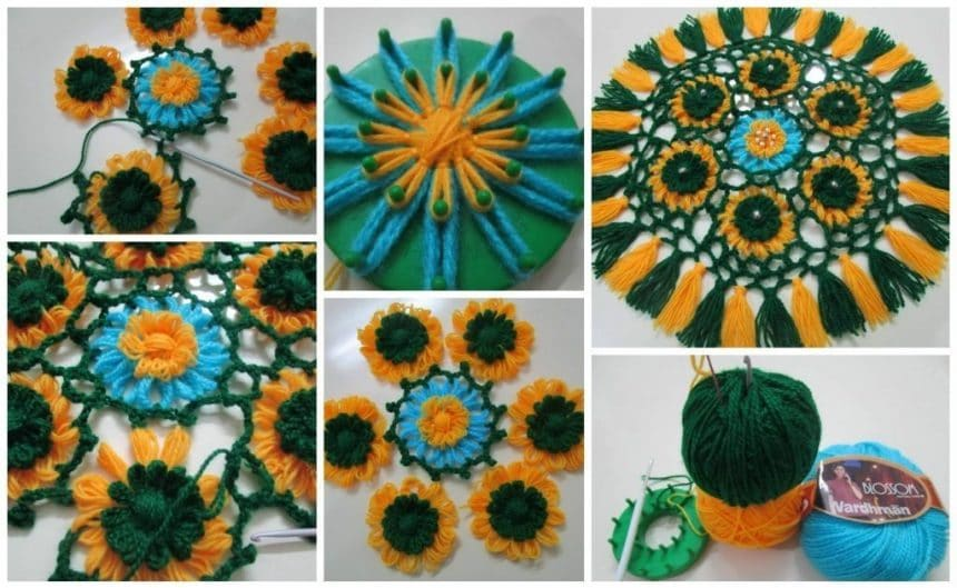 How to make loom flower mat