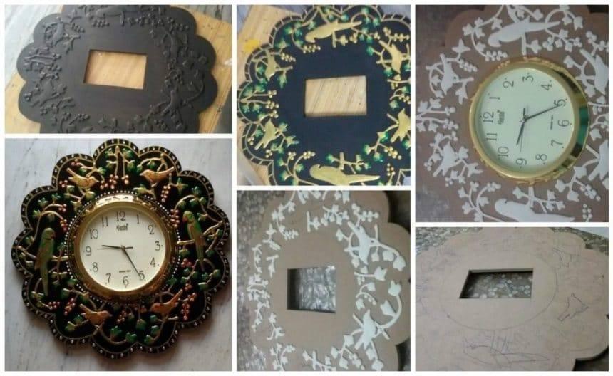 Procedure of making wall clock