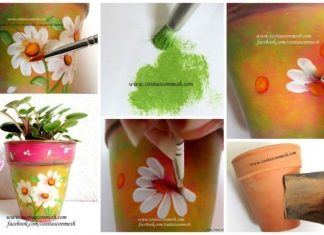 How to painting a clay pot