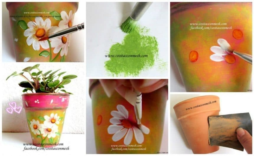 ​​How to painting a clay pot