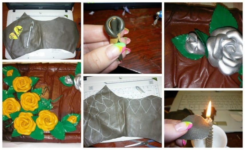 How to make a rose made of genuine leather