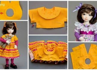 How to sew a dress for the doll