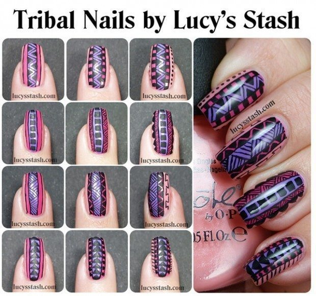 25-Great-Nail-Art-Tutorials-for-Cute-and-Fancy-Nails-6-620x580