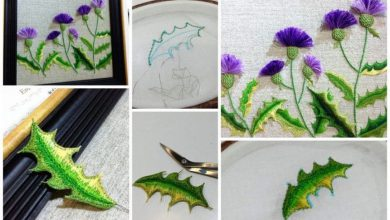 Cornflowers from embroidery