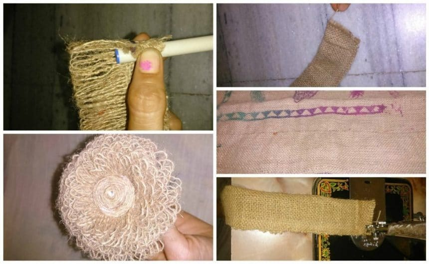 How to make jute flower