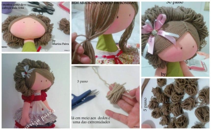 Beautiful hairstyle with curls doll