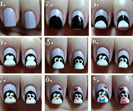 Easy-Winter-Nail-Art-Tutorials-2013-2014-For-Beginners-Learners-10