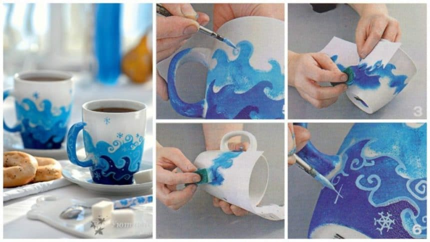 How to paint christmas mug