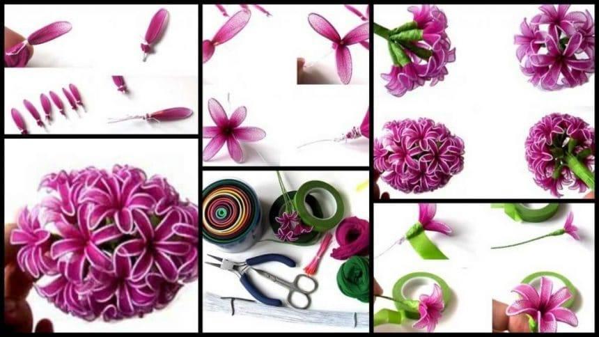 Flower from nylon