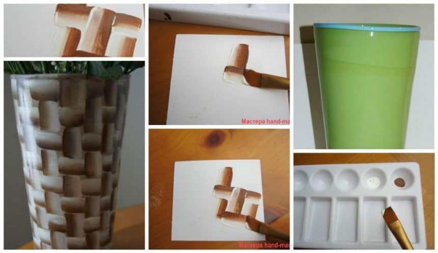 Paint it in the technique of double brushstroke