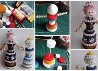 How to make Snow Maiden from plastic covers, caps and cans