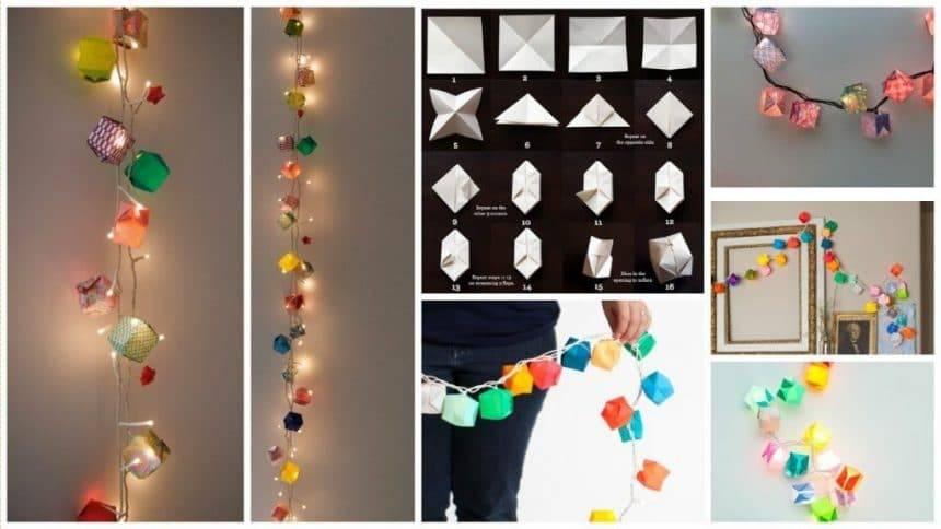 Origami Light Garland