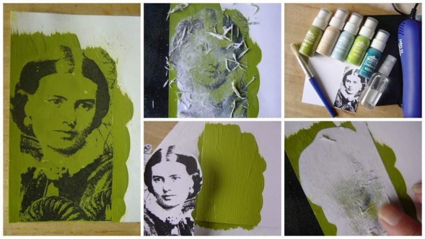 How to transferring images using acrylic paint