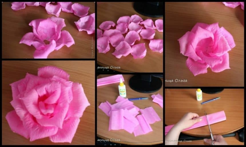 Make Easy Corrugated Paper Rose